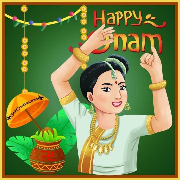Happy Onam Woman Image