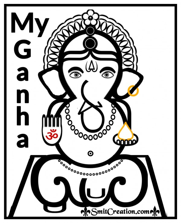 My Digital Ganesha Created by Text Symbols