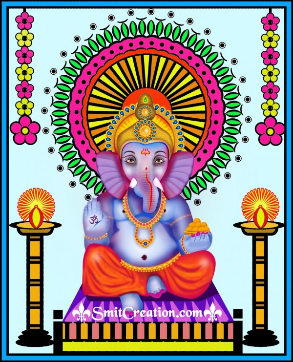 Digital decoration of Ganesha by Text Symbols