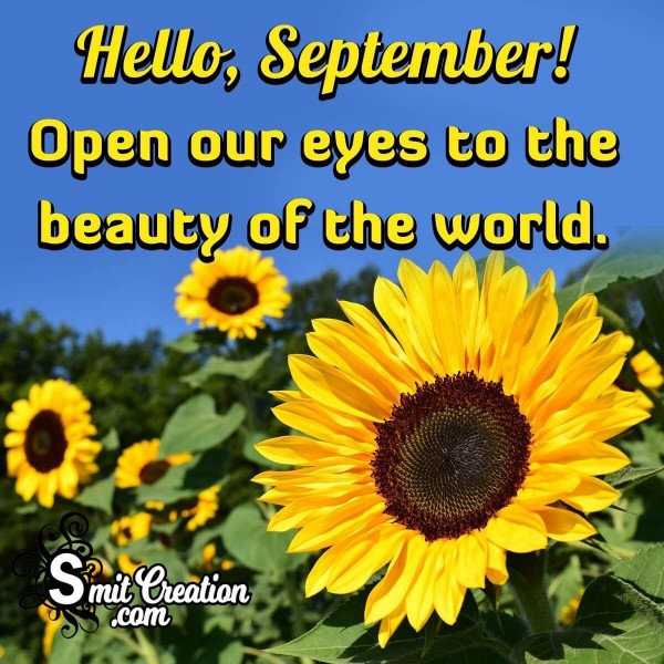 Hello Beautiful September.