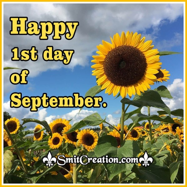 Happy 1st day of September.