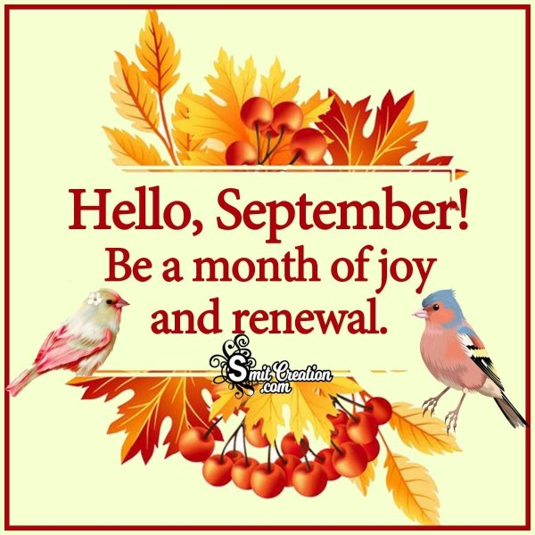 Hello, September! Be A Month Of Joy