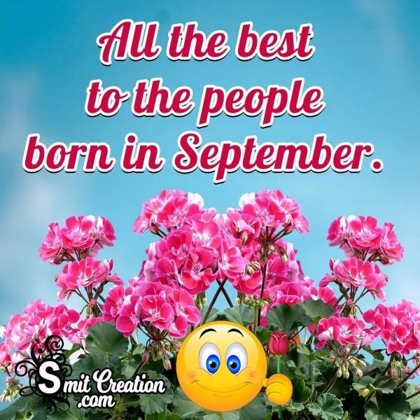 Best Wish To September Born