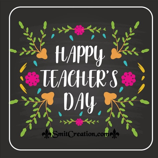 Happy Teacher's Day Design