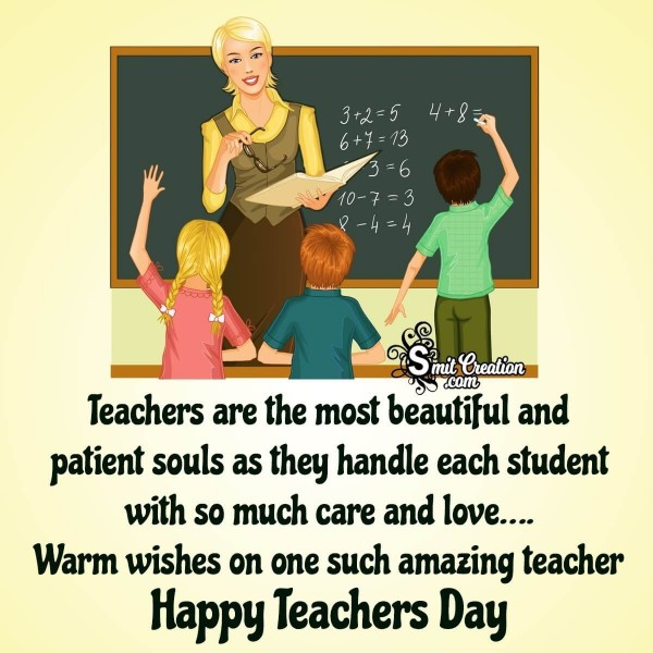 Warm Wishes On Teachers Day To Amazing Soul