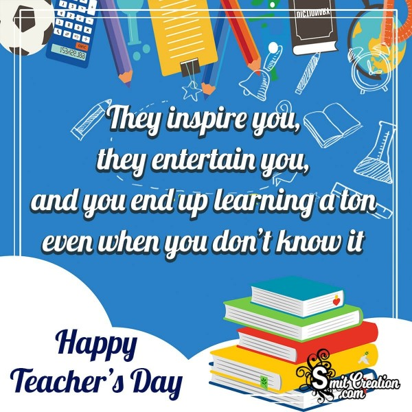 Happy Teachers Day Inspiring Quote Image