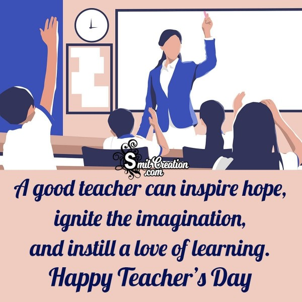 Happy Teachers Day Inspirational Image