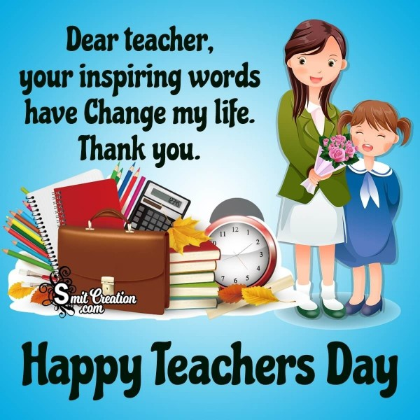 Happy Teachers Day Thank You Message Picture