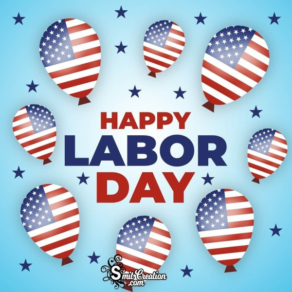 Happy Labor Day Balloons Image