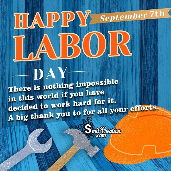 Warm Wishes on Labor Day To You