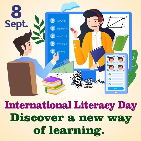 8 September International Literacy Day Distace Learning
