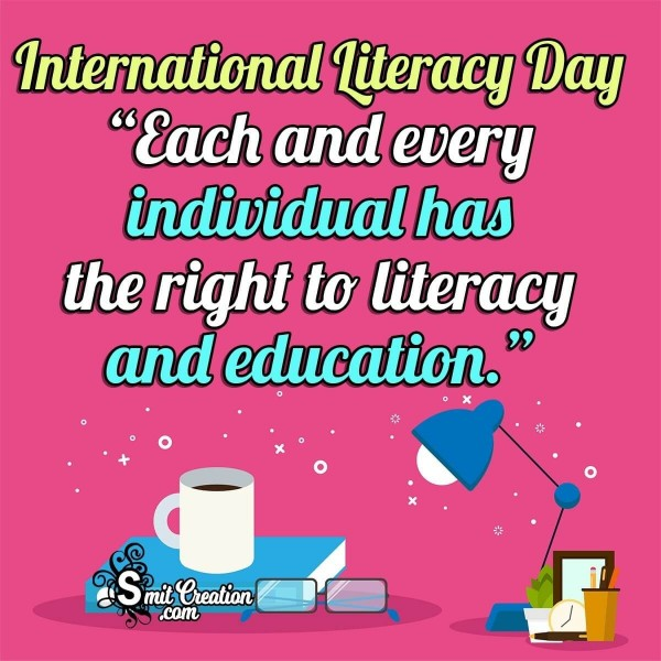 International Literacy Day Message Image
