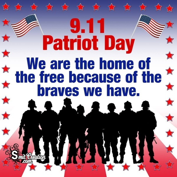 9.11 Patriot Day Catchy Slogan Picture