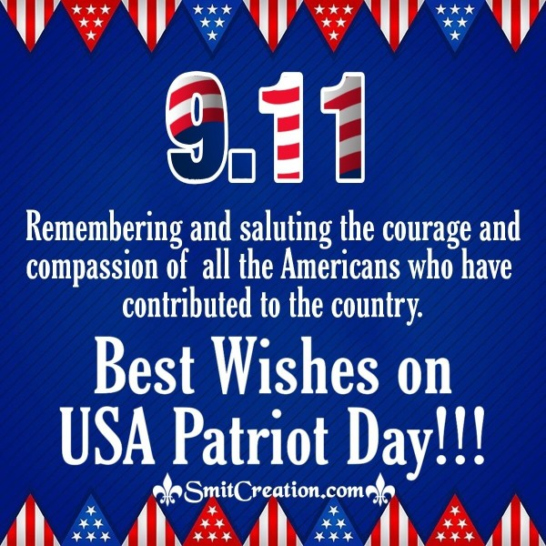 9.11 Best Wishes On USA Patriot Day
