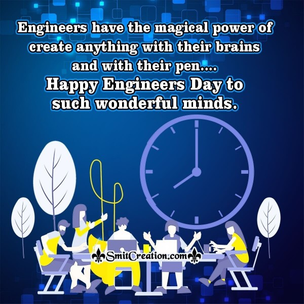 Happy Engineers Day Wish Image For Employees