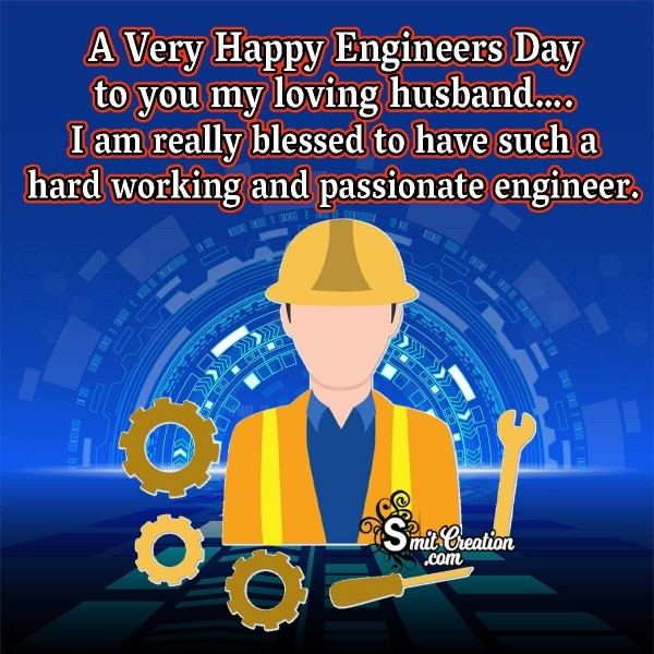 Happy Engineers Day Wish Image For Husband