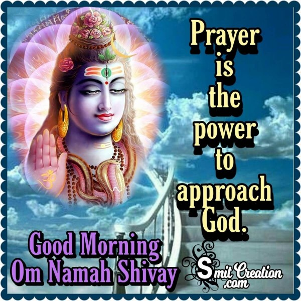 Good Morning Om Namah Shivay Quote