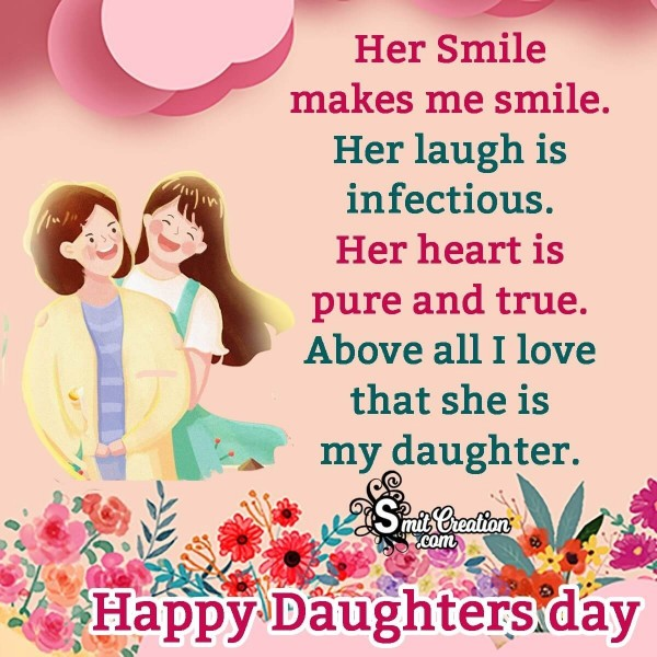 Happy Daughter's Day Wish From Mother To Daughter