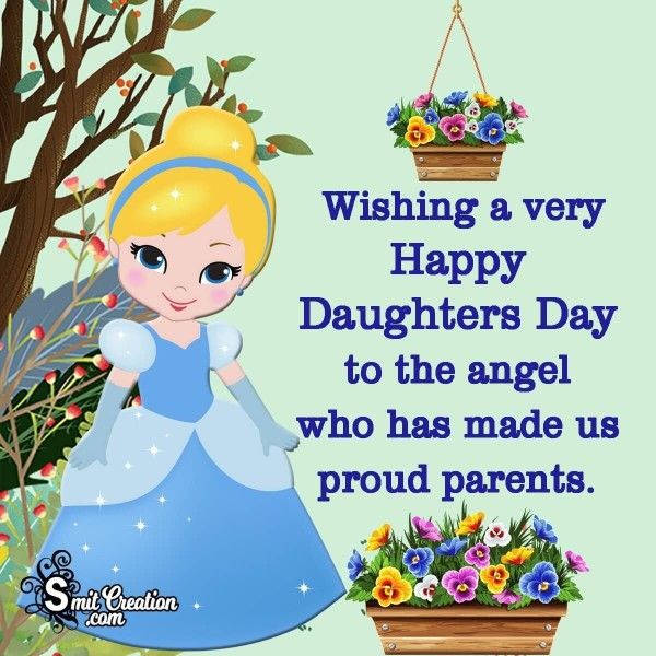 Wishing A Very Happy Daughters Day To The Angel
