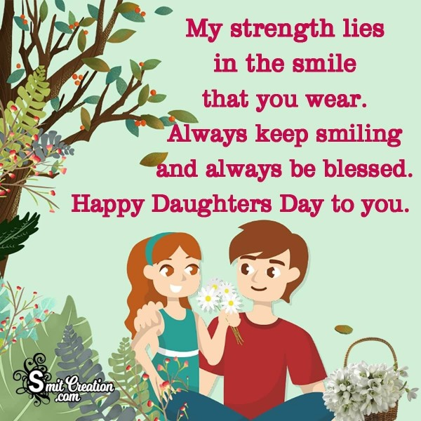 Happy Daughters Day To You