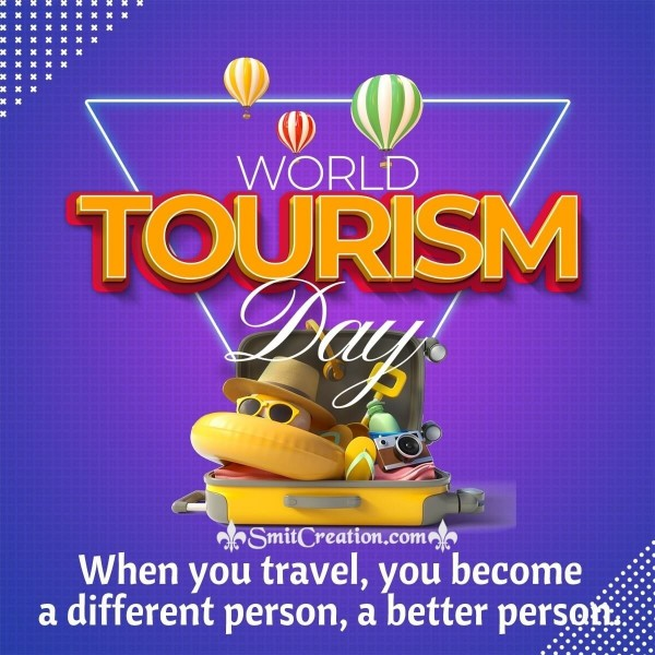 World Tourism Day Quote Image