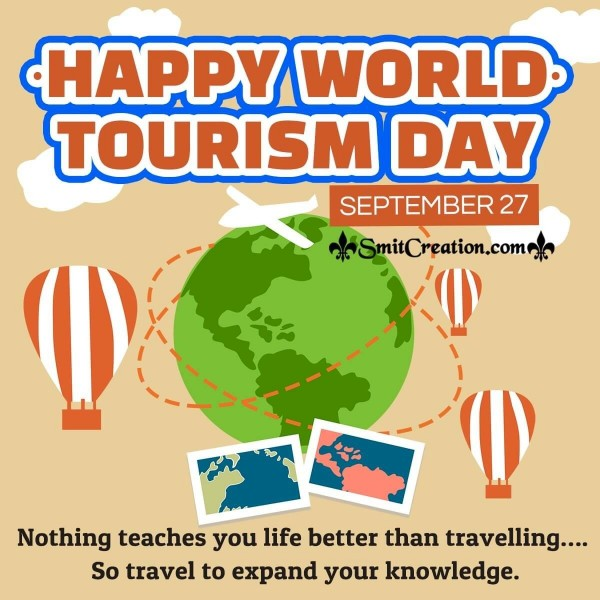 Happy World Tourism Day Quote Picture