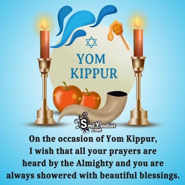 Beautiful Blessings Of Yom Kippur