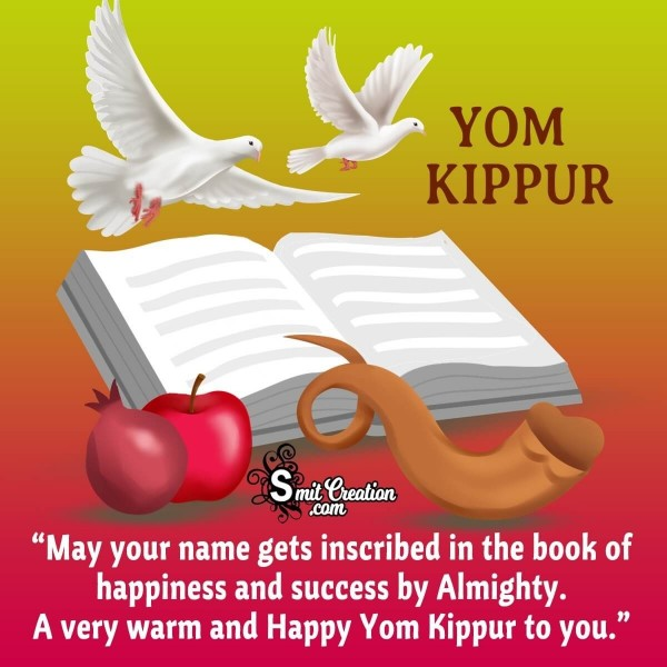 A Very Warm And Happy Yom Kippur To You