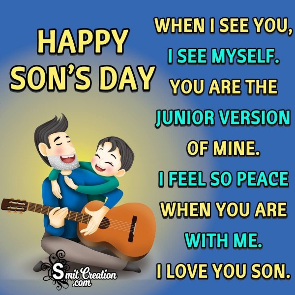Happy Son's Day Quote From Father