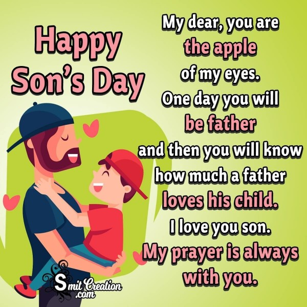 Happy Son's Day Wish From Father