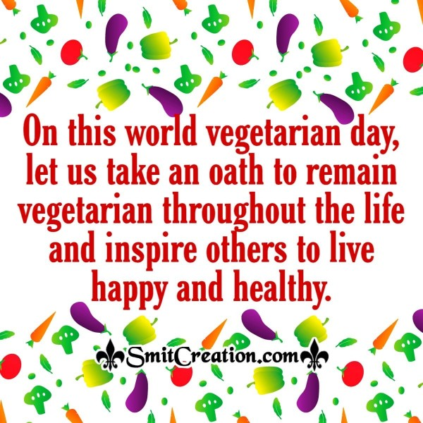 World  Vegetarian Day Oath
