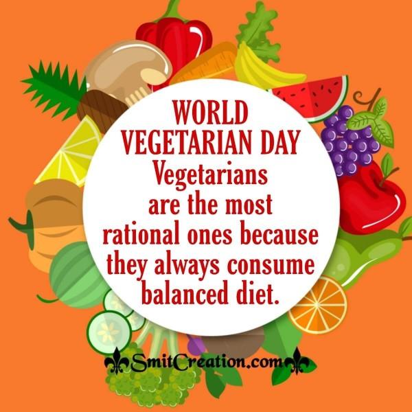 World  Vegetarian Day Quote