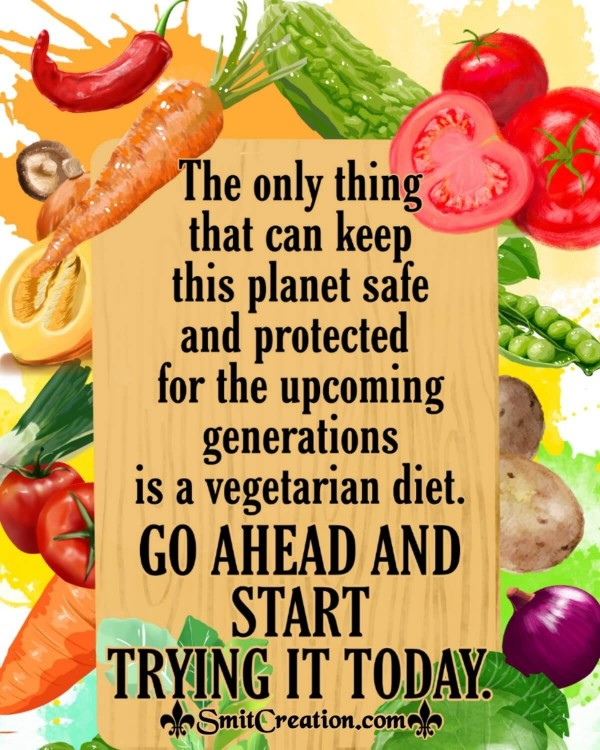 Vegetarian Diet Quote For World Vegetarian Day