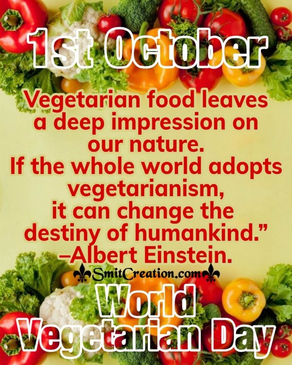 1st October World Vegetarian Day Quote