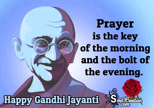 Gandhi Jayanti Quote On Prayer