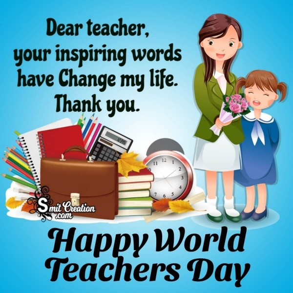 Happy World Teachers Day Thank You Message Picture