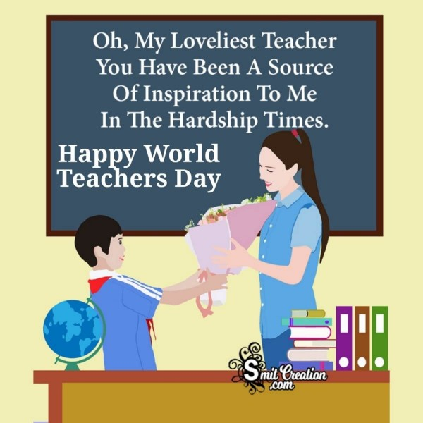 Happy World Teachers Day Message To Loveliest Teacher