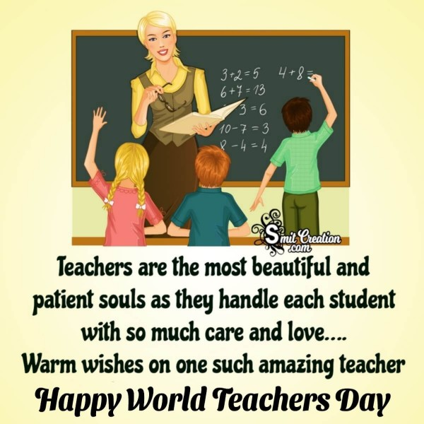 Warm Wishes On World Teachers Day To Amazing Soul