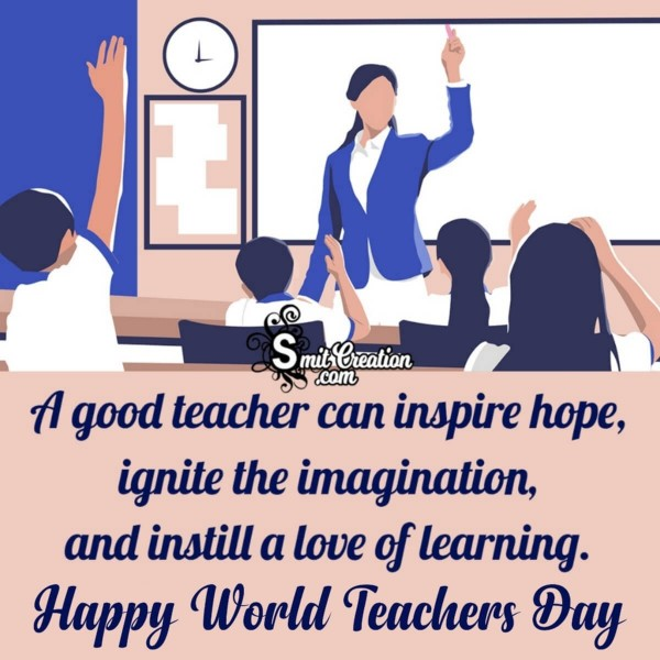 Happy World Teachers Day Inspirational Image