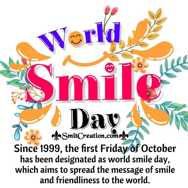 World Smile Day On First Friday Of October
