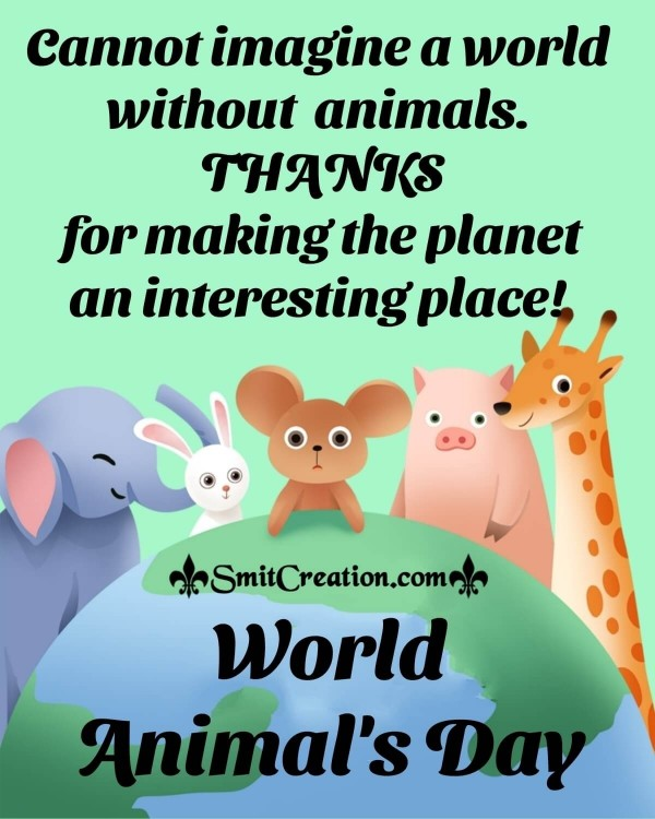 Happy World Animals Day Status