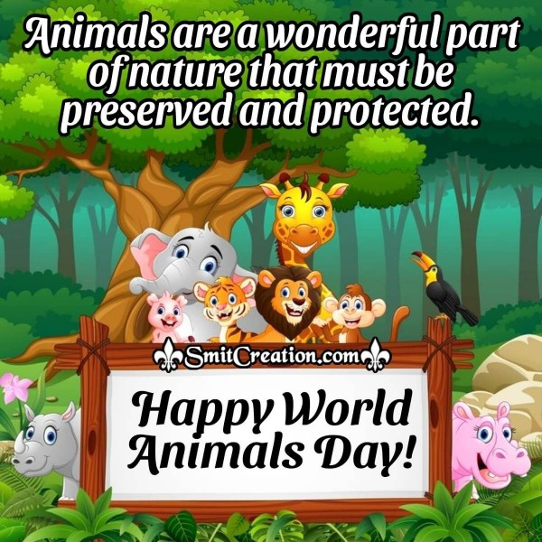Happy World Animals Day Wonderful Image