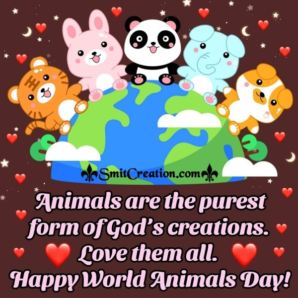 Happy World Animals Day Quote Image