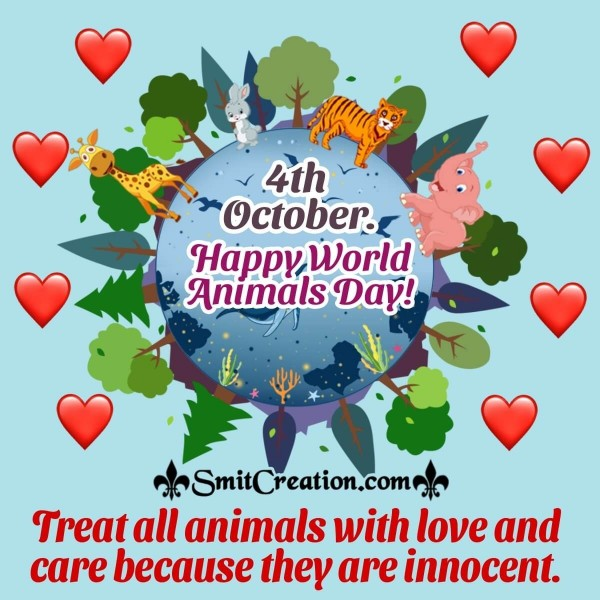 Happy World Animals Day Quote Pic
