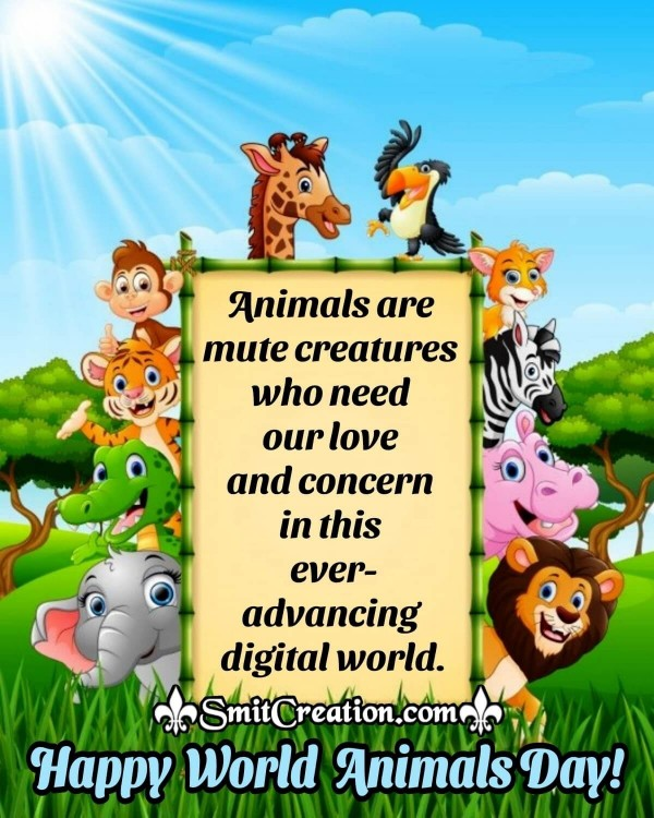 Best World Animals Day Quote Image