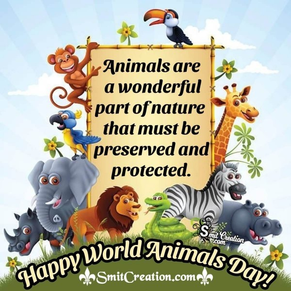 Wonderful World Animals Day Image