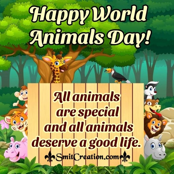Best World Animals Day Image