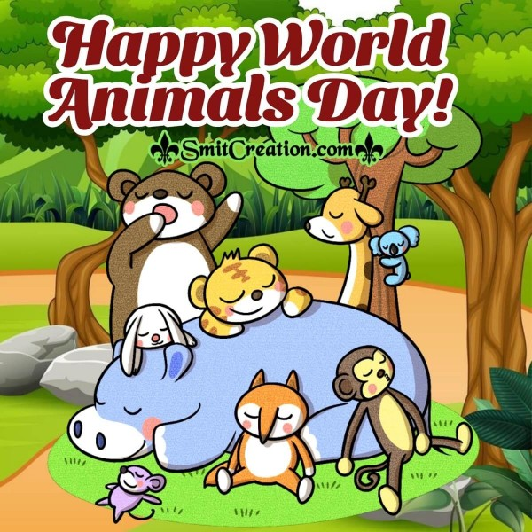 Happy World Animals Day Pic