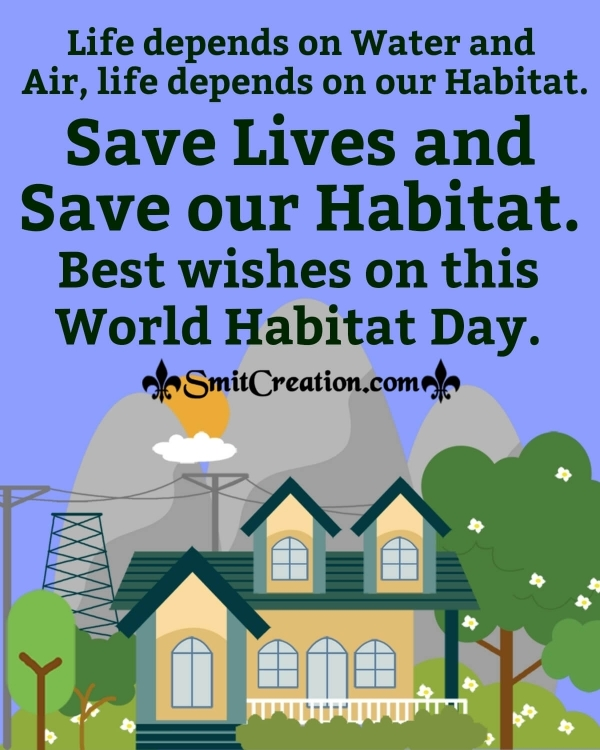 Best Wishes On The World Habitat Day