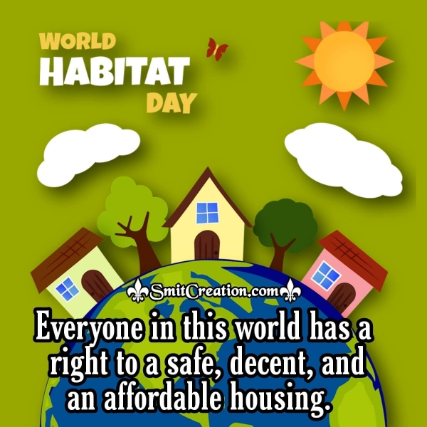 Best Wishes On This World Habitat Day.